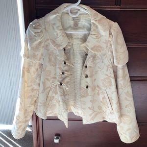 Anthropologie (elevenses) velvet jacket - size 8.